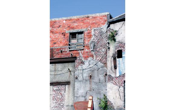 house painting advertisement making buildings in foamboard
